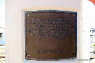 Jack London Square Wharf Carpentier Tower Plaque