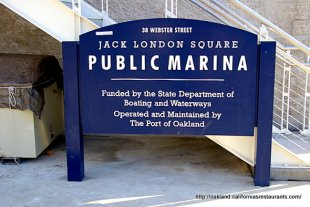 Jack London Square Public Marina Sign