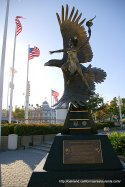 Jack London Square Cheemah Monument in Oakland, CA